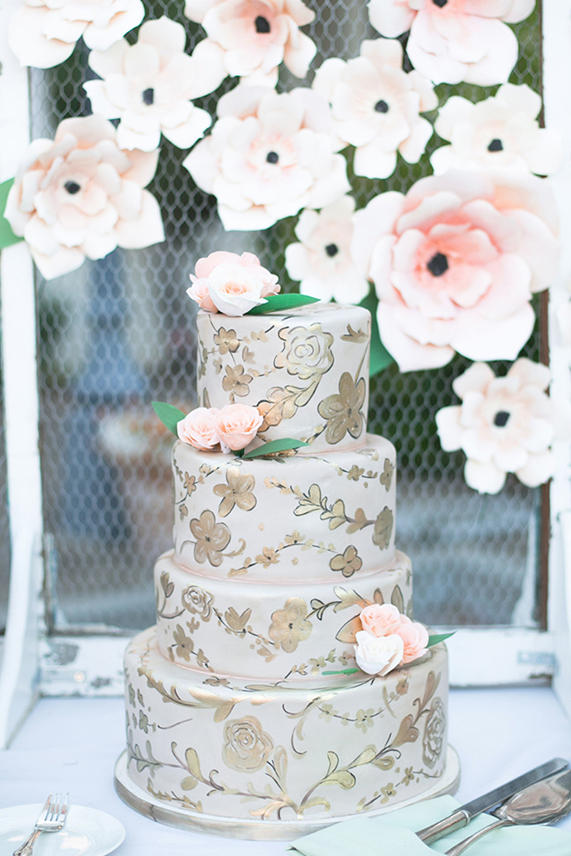 Trending - Wedding Cakes That Match Your Invites