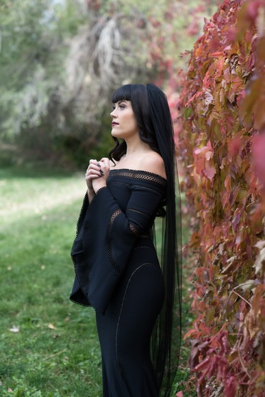 This Is How You Rock A Black Wedding Dress On Your Wedding Day