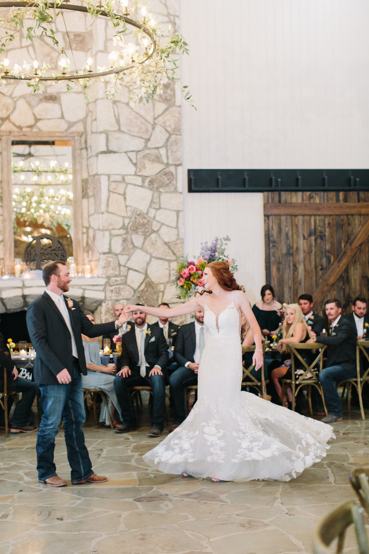 How To Have A Lavish Ranch Wedding With Bold Florals + Blue Bridesmaids