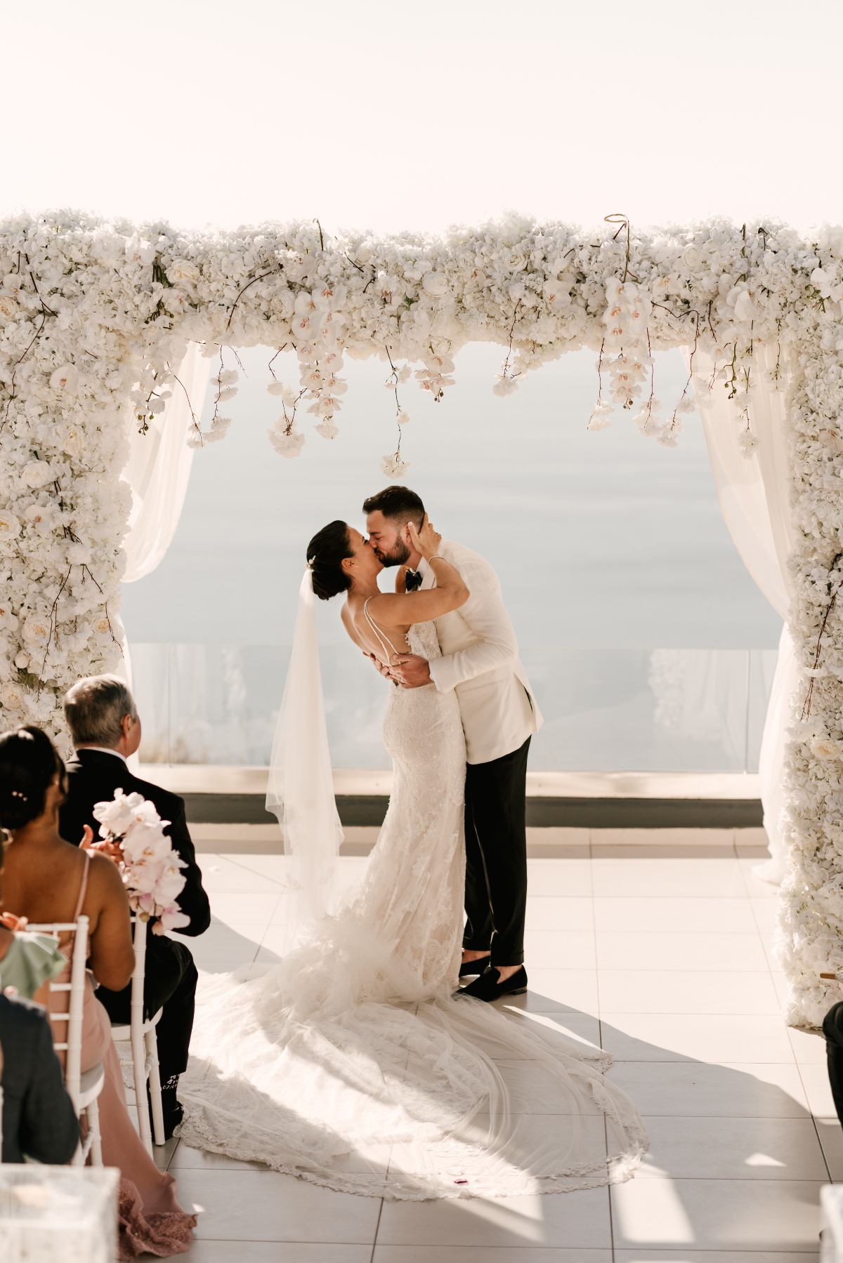 Fairytale Wedding In Santorini Planned During A Global Pandemic