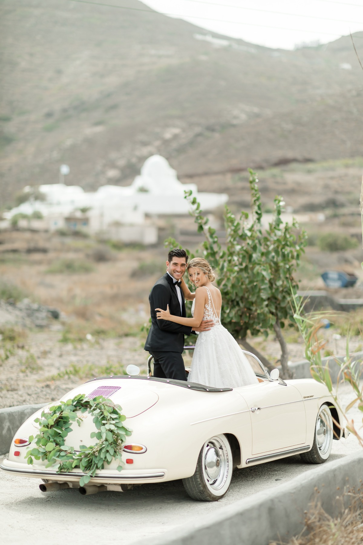 The Magic of the Silver Crescent Inspired Elopement in Santorini