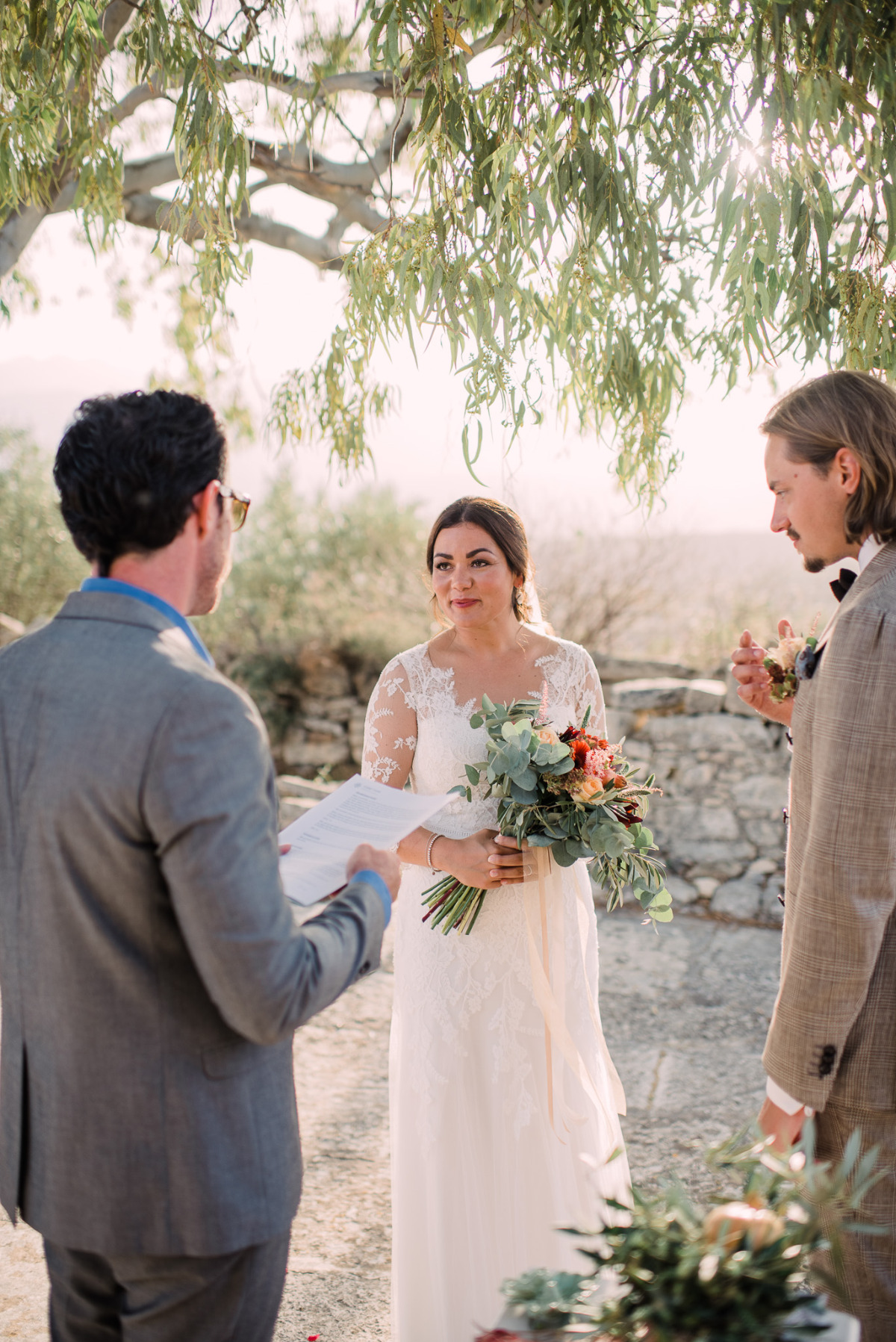 Rustic Intimate Elopement in Crete Planned in Just 48 hours