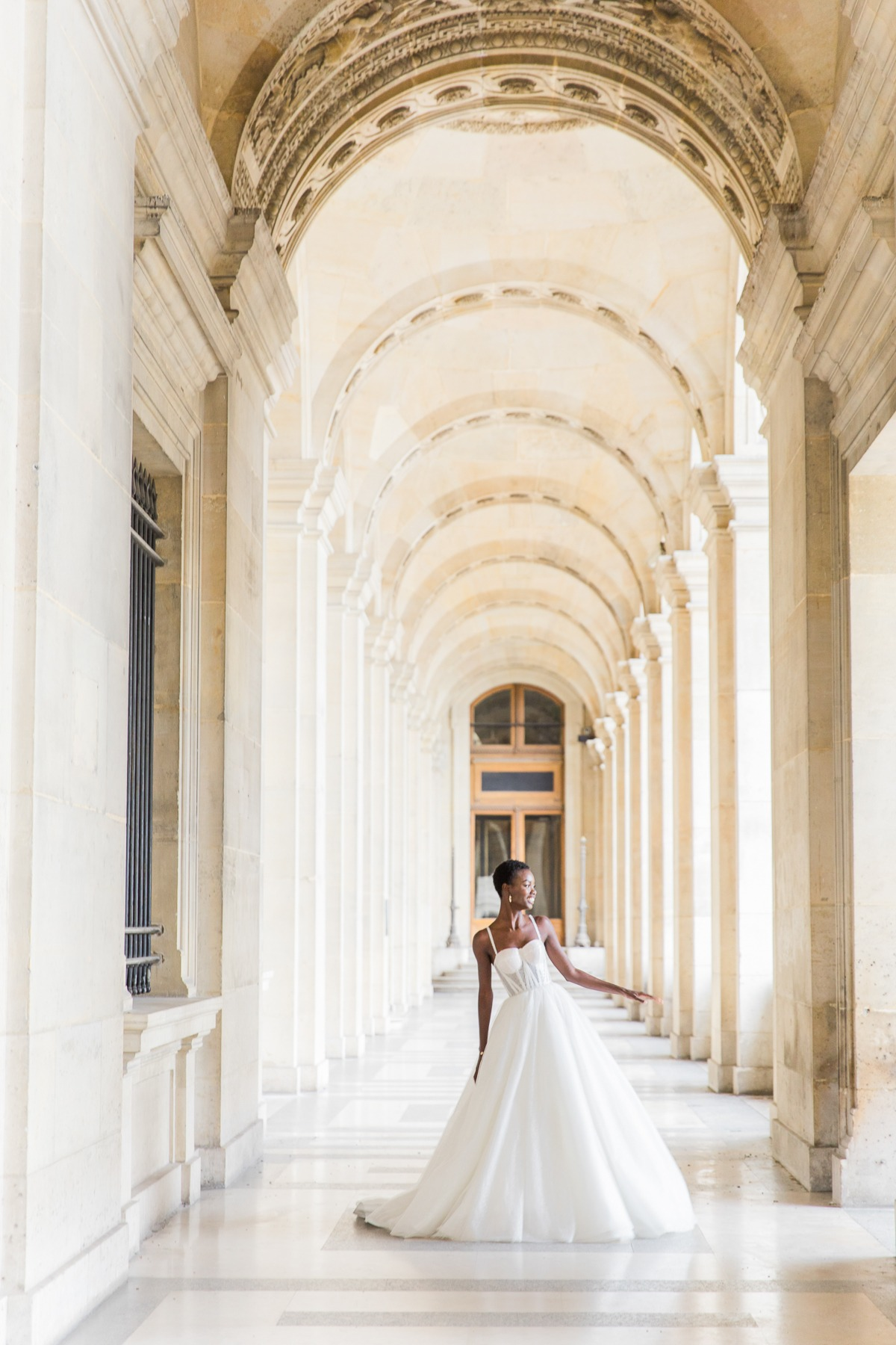 With Her Crown, Her Cape, and Her Boundless Parisian Chicness, This Beautiful Black Bride Is Giving Us All the Goals