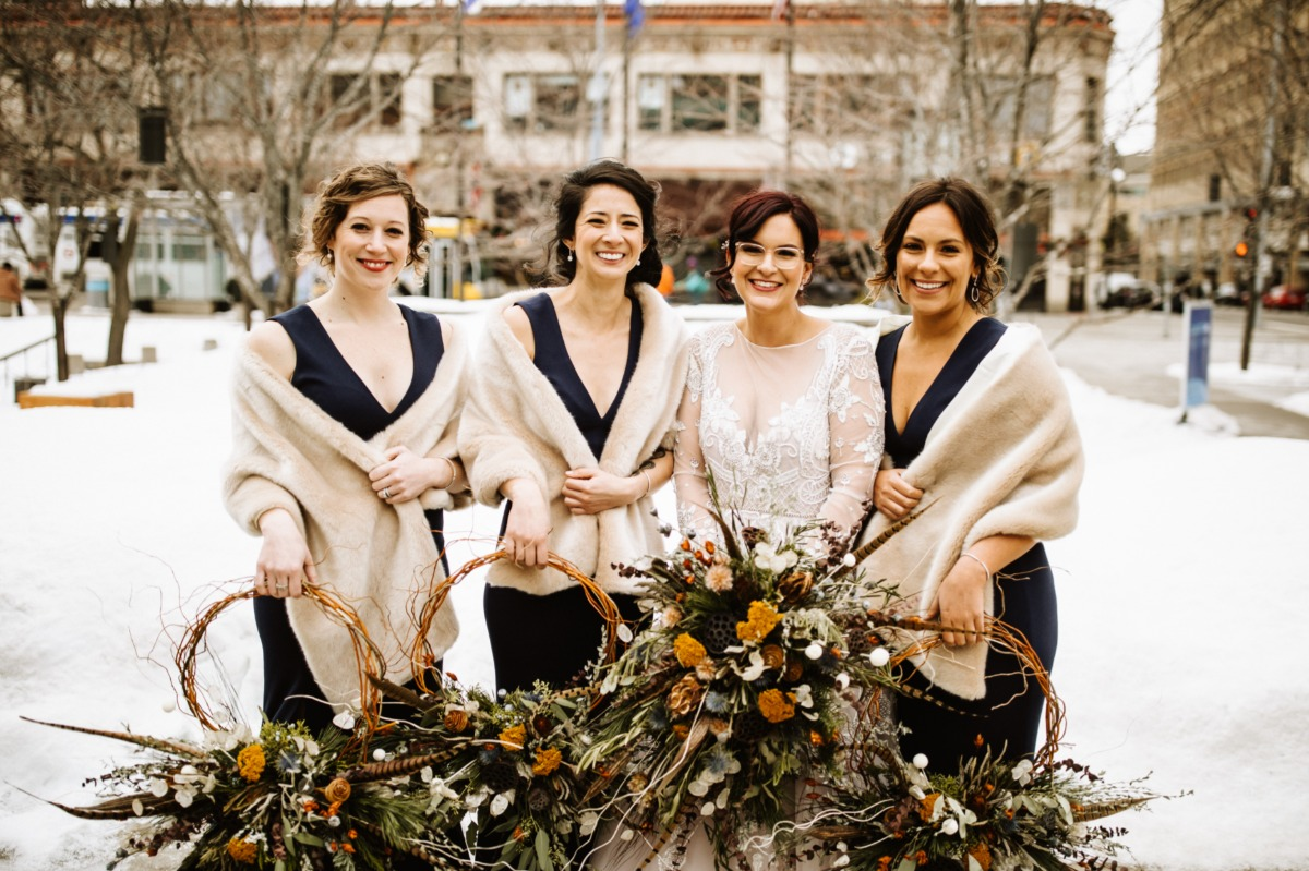 A Modern and Cozy Winter Wedding In Minnesota That Brought the Wonder of the Outdoors Inside