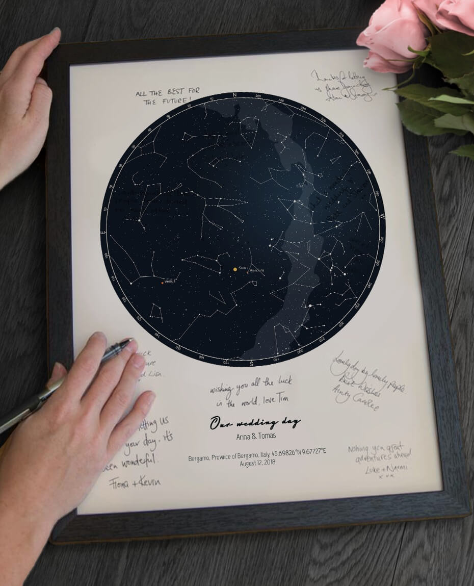 This Custom Guest Book Idea from Positive Prints Is Legitimately Stellar