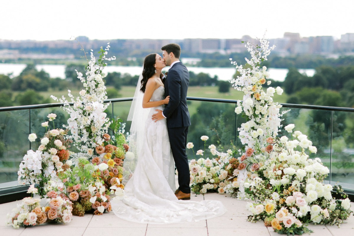 Edgy Inspirational Shoot With Whimsy Florals and Badass Details in Washington DC