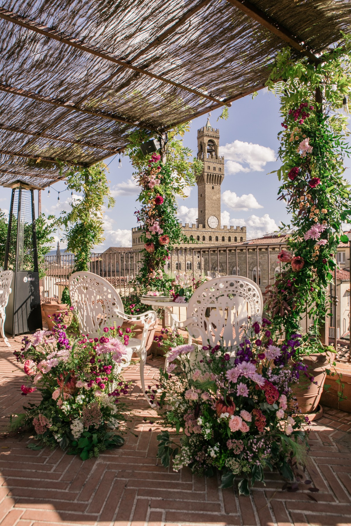 A Stunning Proposal On A Garden Rooftop in Florence Italy