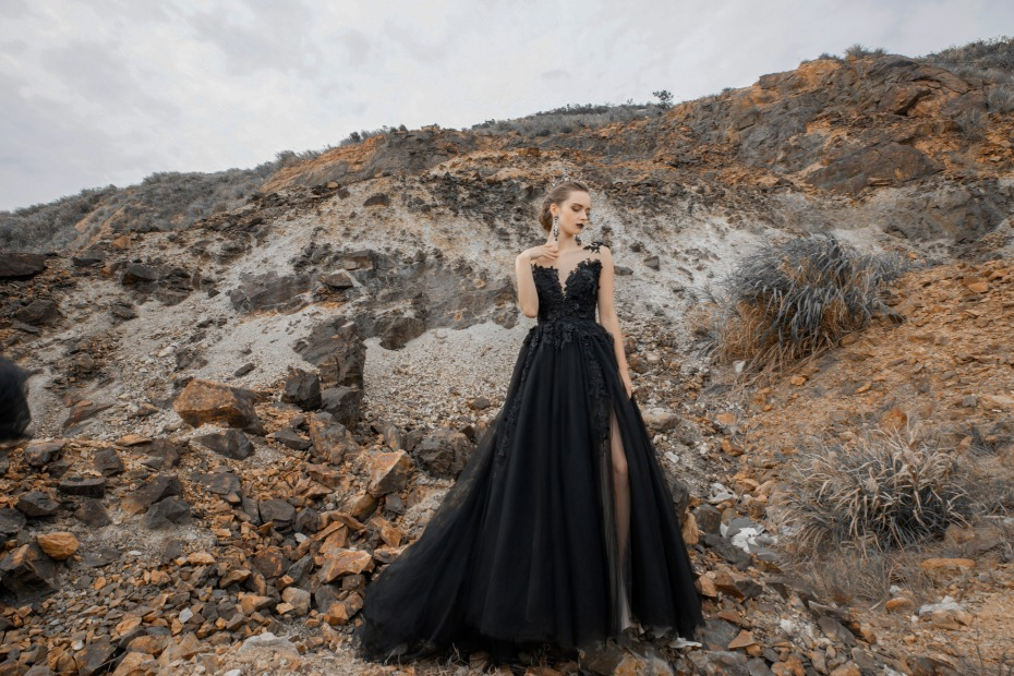 Black Wedding Dresses Are Coming Back In a Big Way This Year