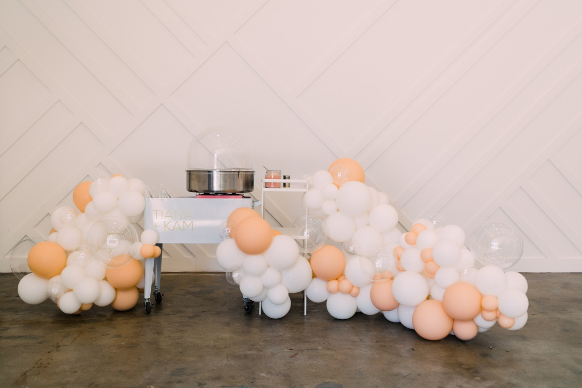 Modern, Peach-Hued Indian Fusion Inspired Shoot