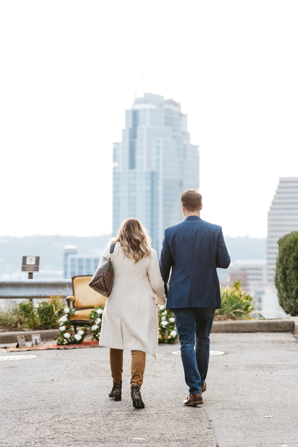 A Romantic Rooftop Proposal Inspired By A Broadway Classic