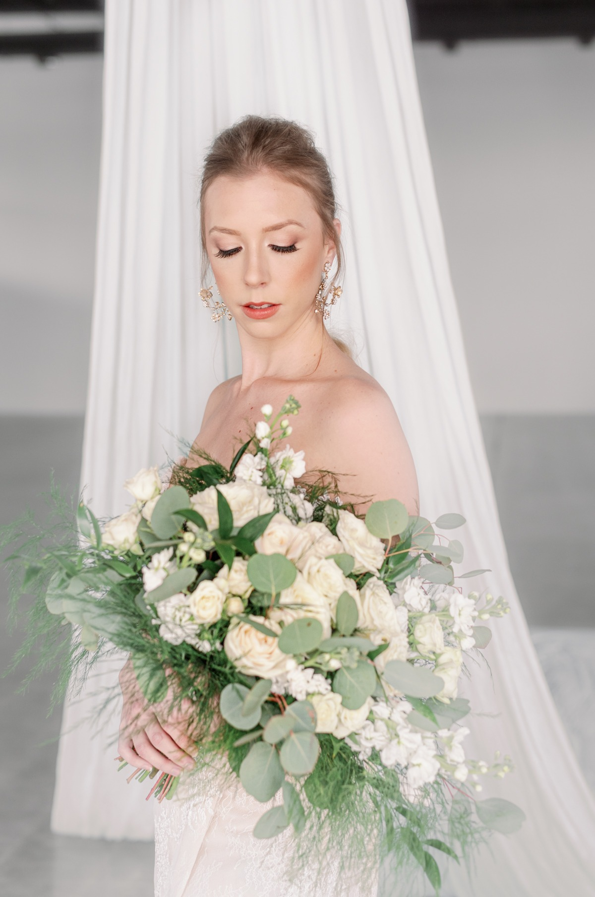 Industrial Meets Ethereal Bridal Editorial With Silk Aerialist