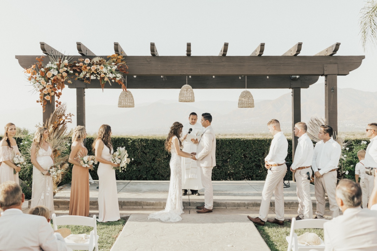 A City-wide Blackout Couldn't Stop This Sunny Desert Wedding