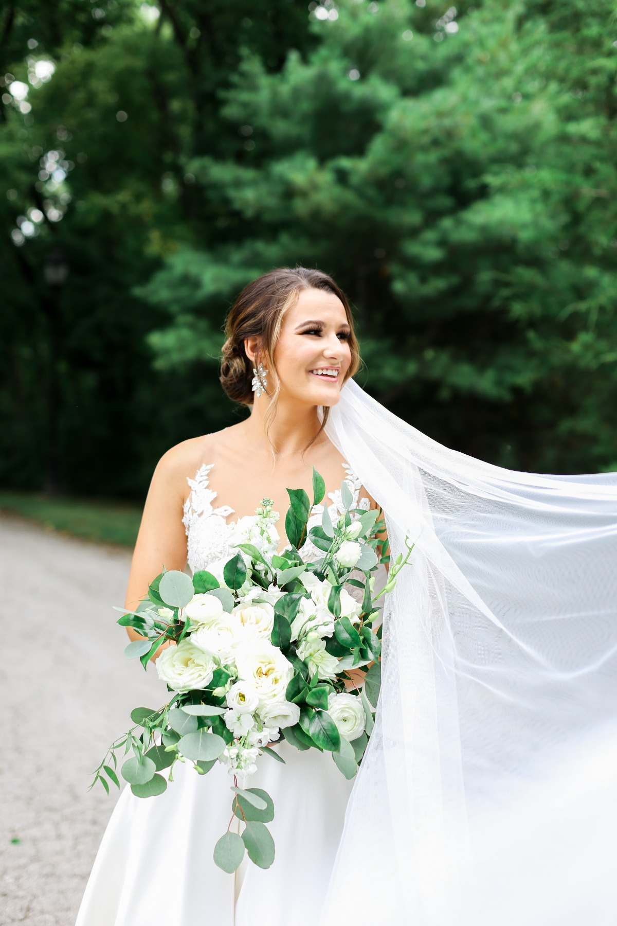 Classic Chapel Wedding With A Living Floral Wall