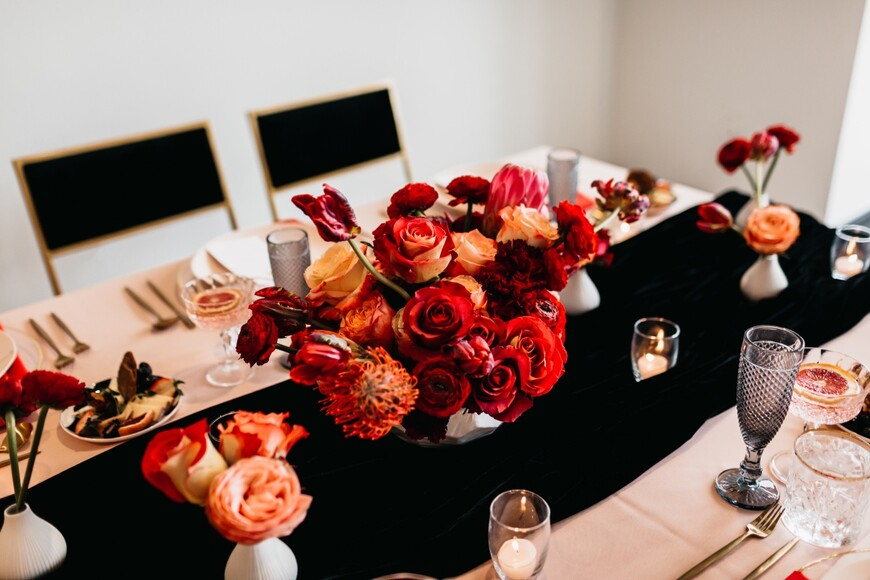 This Stylish Elopement Inspiration Shoot Will Have You Seeing Red...In a Good Way