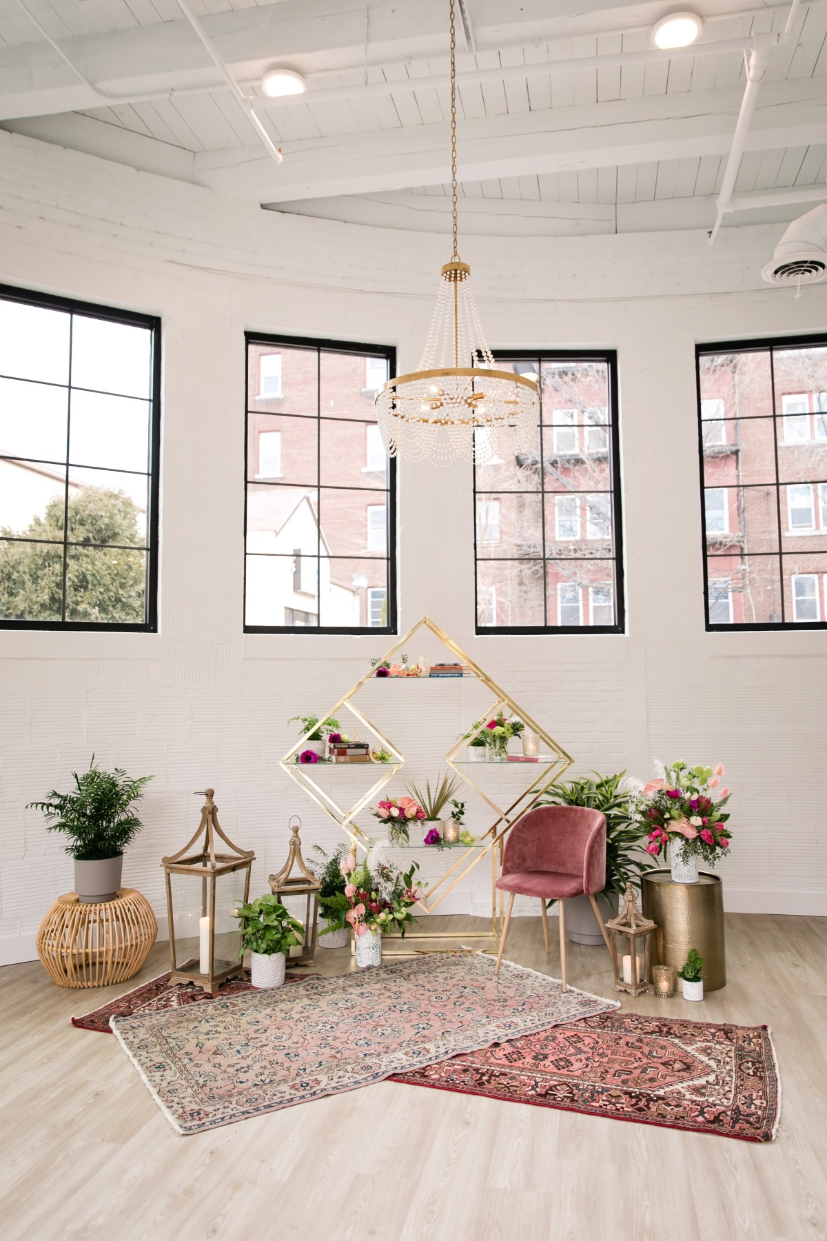 A BOHO Styled Shoot with A Larger Than Life Floral Installation