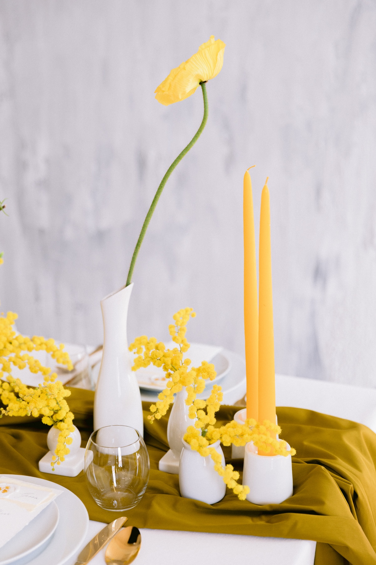 Every Day Is Women's Day In This Modern Yellow Wedding Inspiration Shoot