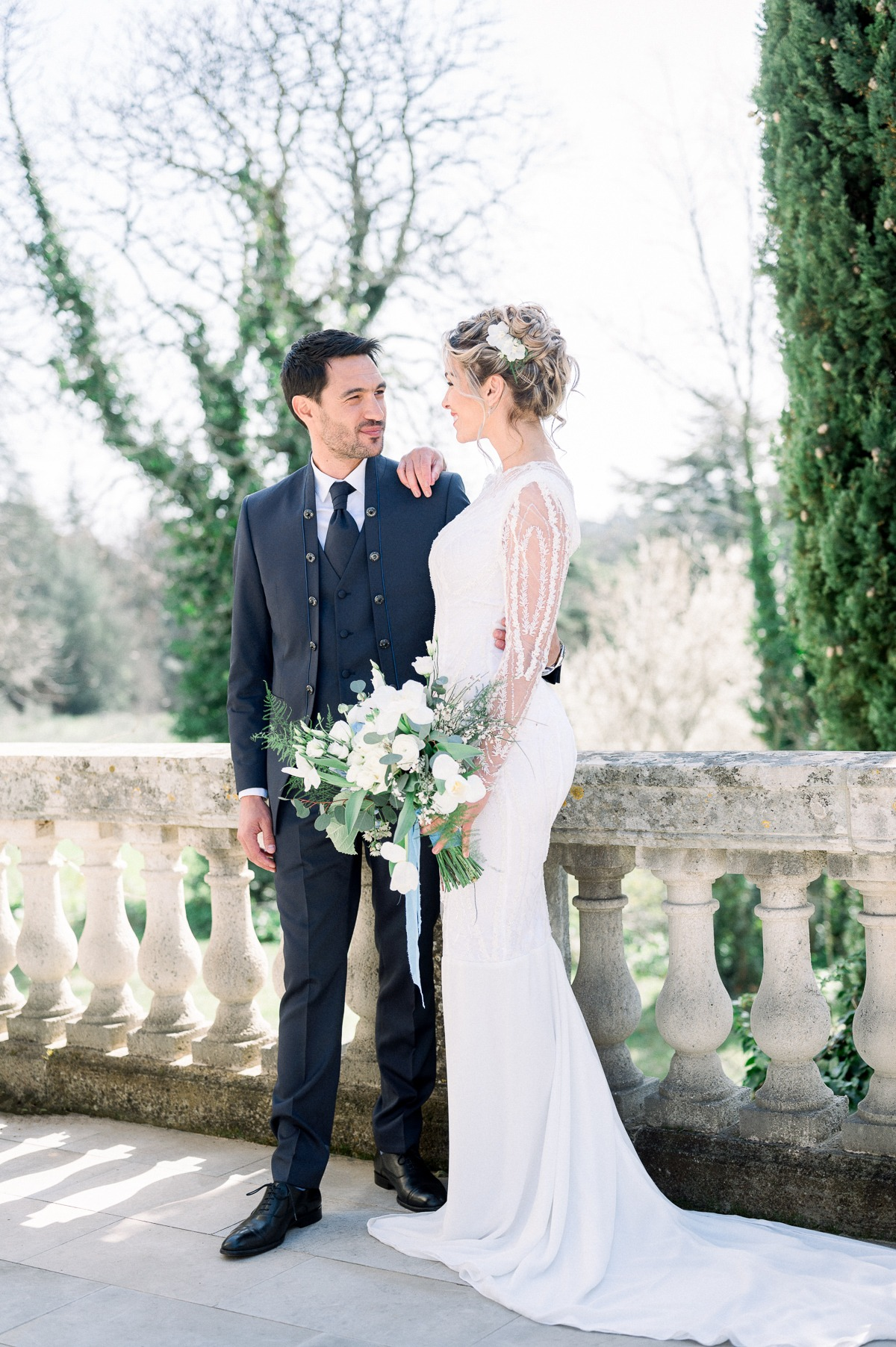 A Suit Steals The Show In This Stunning Inspiration Shoot At A Scenic French Château