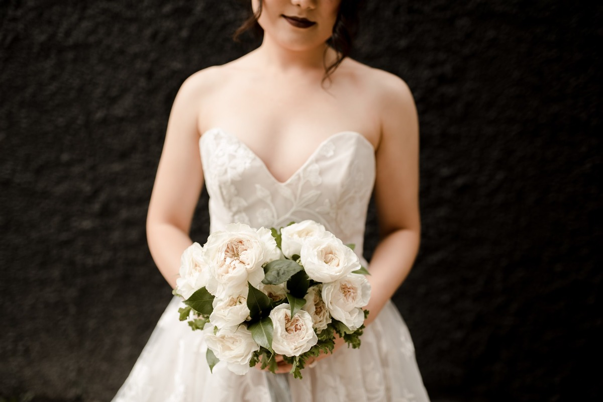 A Vampy Wedding Inspiration Shoot In Black and White