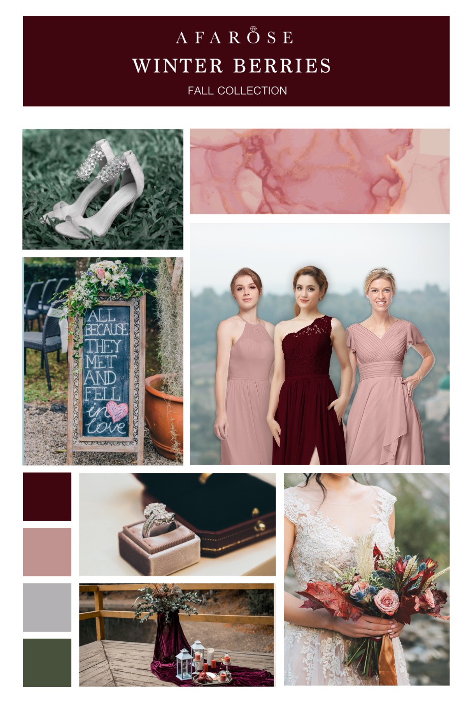 How to Use Mood Boards to Pick a Season for Your Wedding