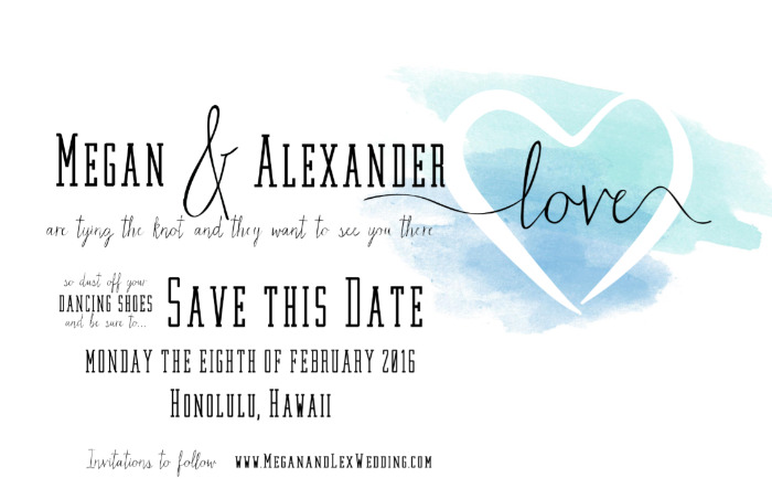 Print: Watercolor Free Printable Save The Date