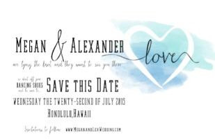 Watercolor Free Printable Save The Date