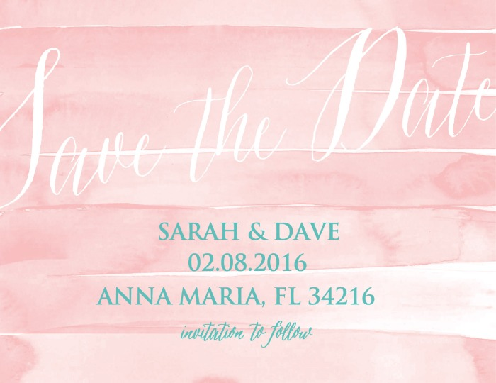 Print: Beach Wedding Save the Date