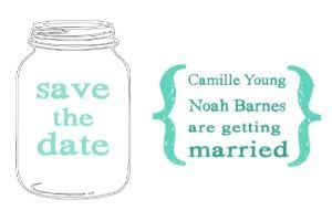 Mason Jar Save the Date Free Printable