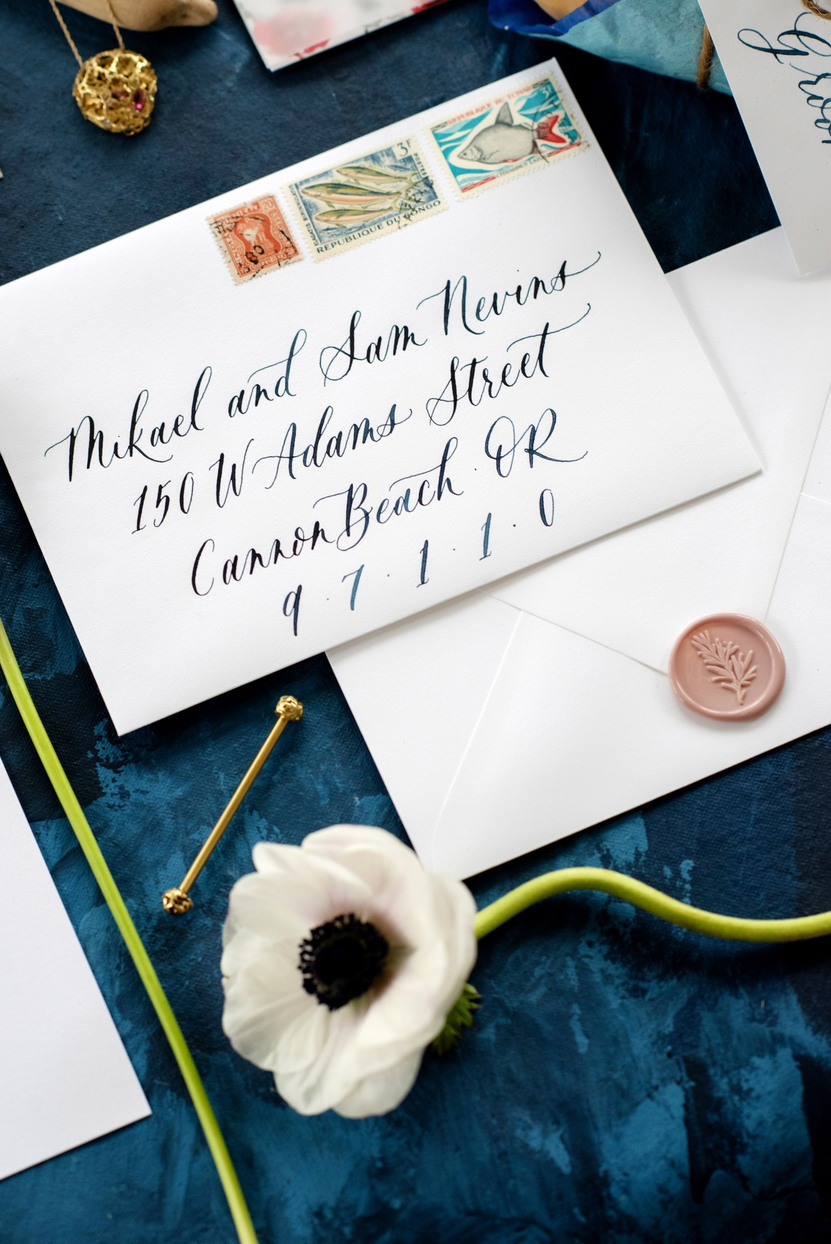 French Blue Coastal Elopement Inspiration at Del Rey Beach in Gearhart Oregon