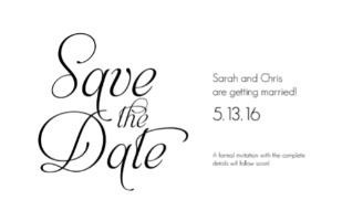 Fancy Font Free Printable Save The Date