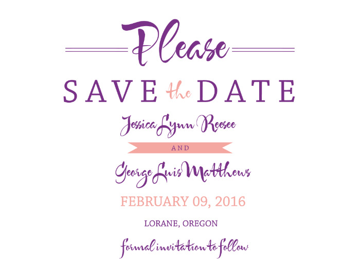 Print: Modern Monogram Free Printable Save The Date