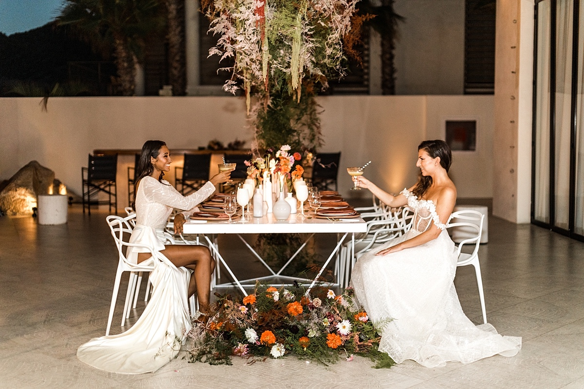 Both Brides Shine In This Eclectic Elopement Inspiration