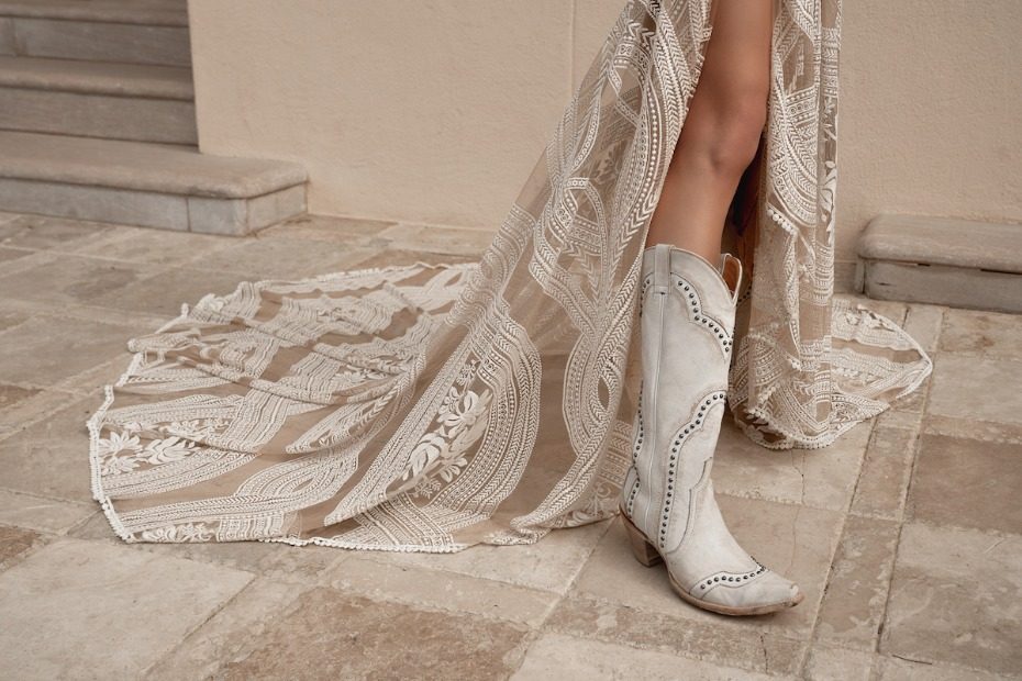 Cowboy Boots Are the New Glass Slipper on a Bride's Best Day Ever