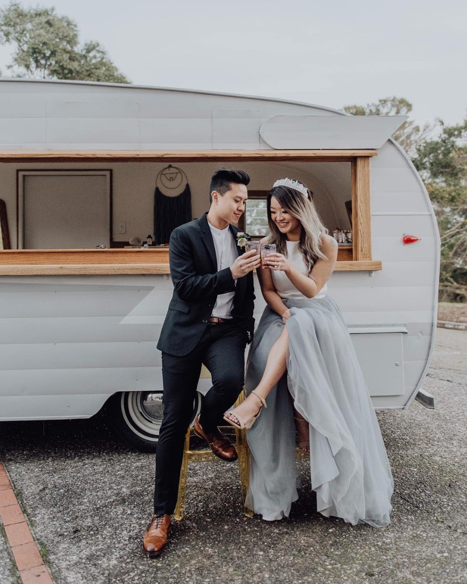 10 of the Best Mobile Bar Carts for Your Wedding
