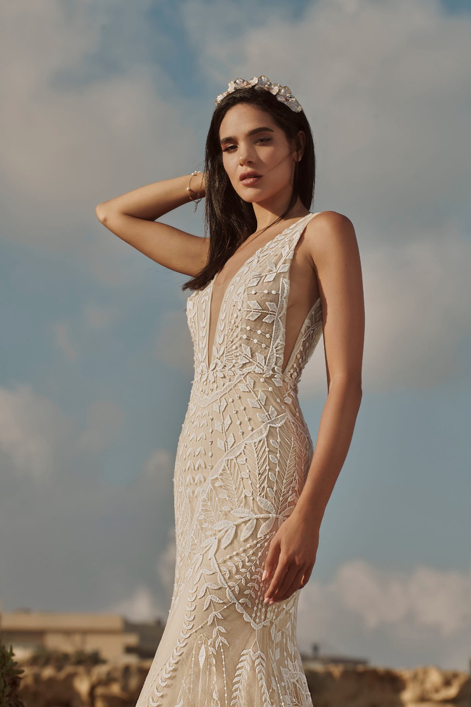 Unbridaled Is Debuting RISH Bridal's Latest Collection Of Boho-Glam Gowns