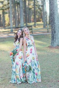 Pink and Yellow Floral Wedding Ideas