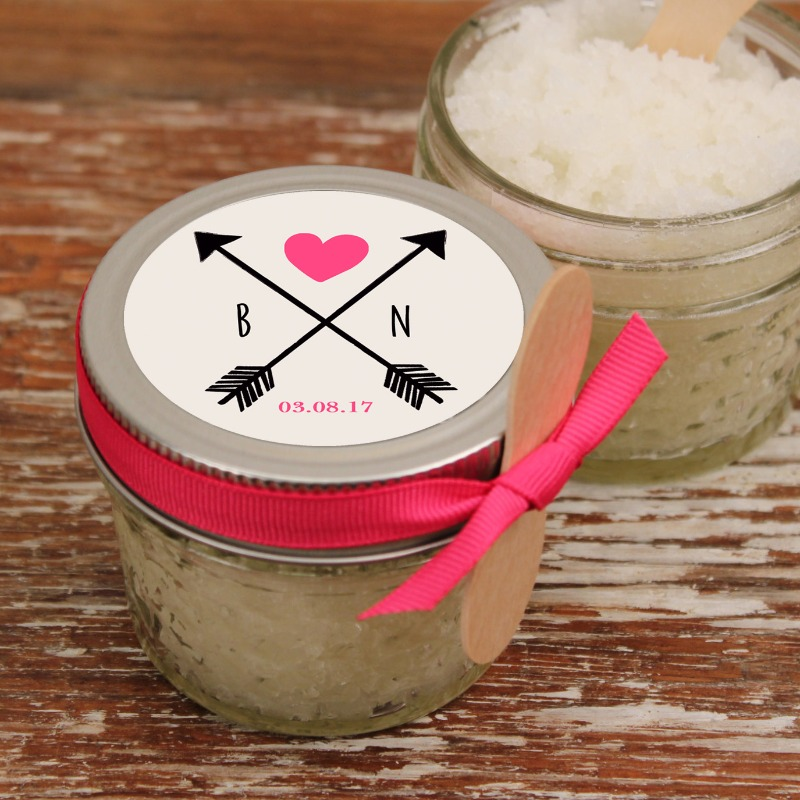All natural, vegan sugar scrub favors.