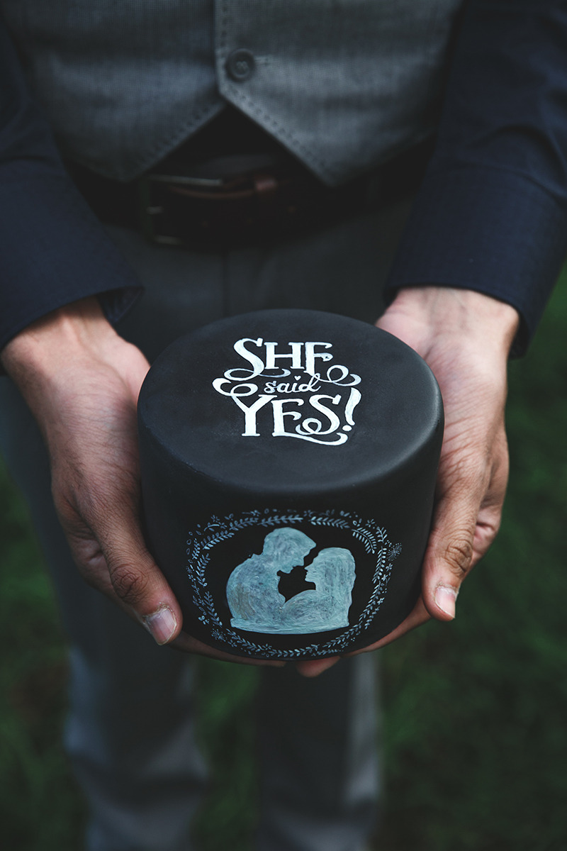 Engagement With A Cake